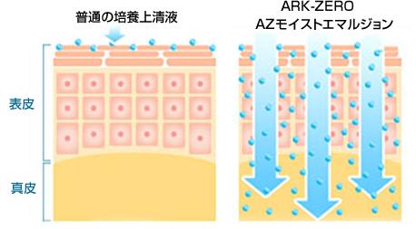 PDS技術を使用したARK-ZEROは、成長因子をたっぷり含んだ幹細胞培養液をお肌深くまで届けます。